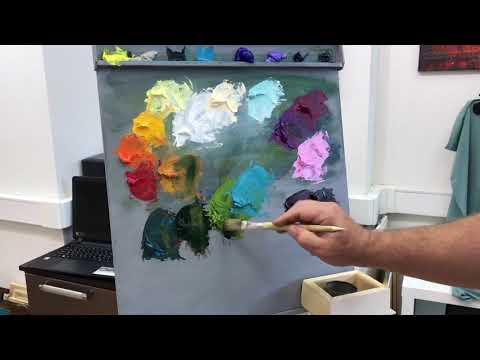 Как написать букет цветов в технике алла-прима(масло)