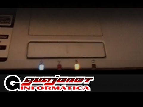 Notebook não desliga completamente, LEDs ficam acesos