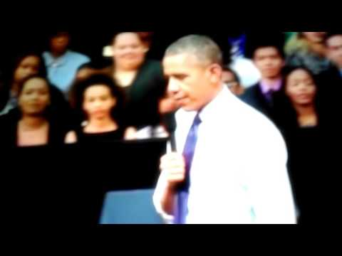 Obama sings Star boy