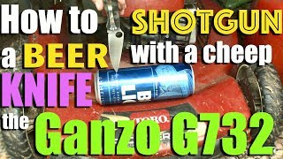 Ganzo G732 Pocket Knife Review and How To Not Shotgun a Beer