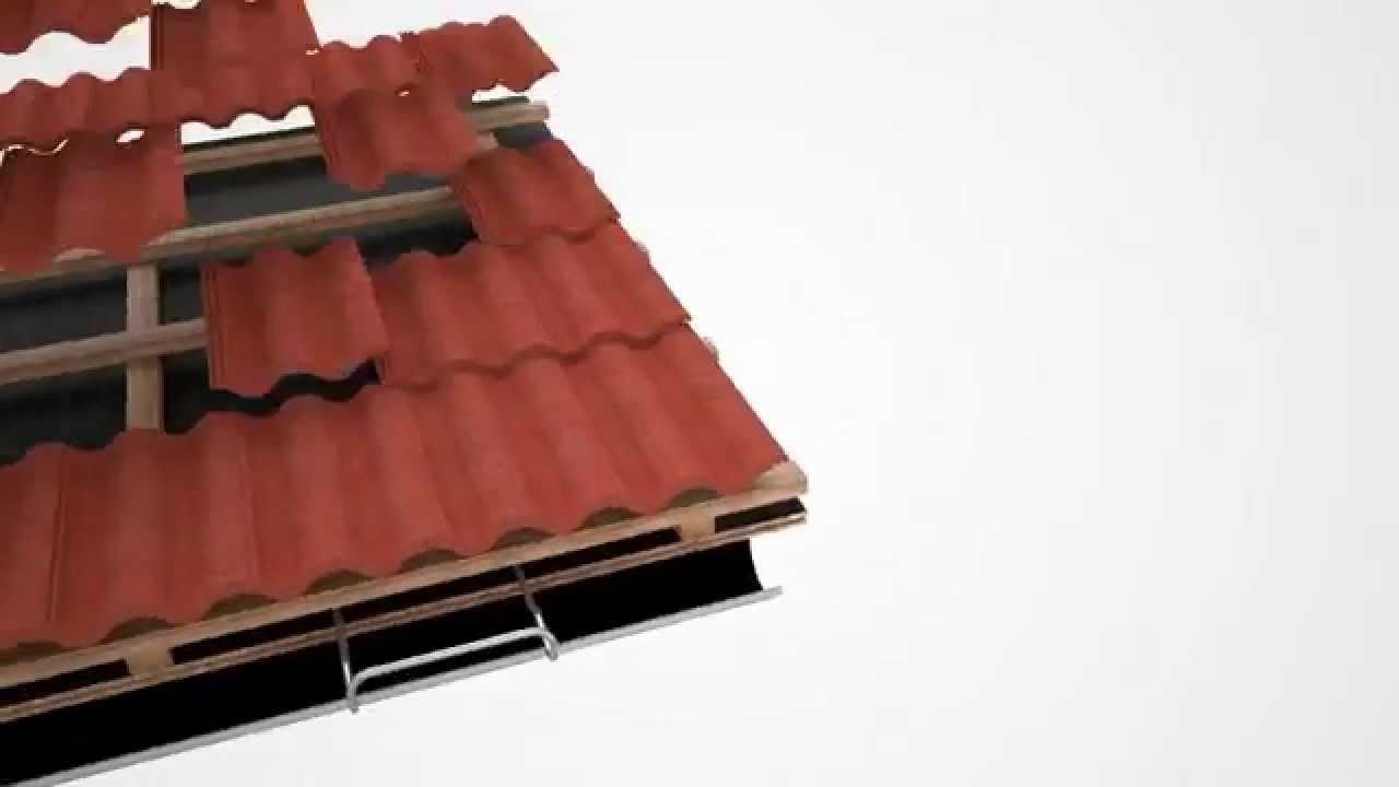Inredning takpannor benders : Glidskydd monteras på tak med takpannor - YouTube