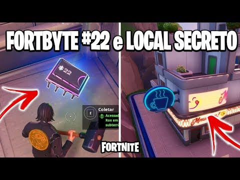 FORTNITE - NOVO FORTBYTE #22, LOCAL SECRETO e NOVO CONCEPT