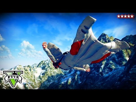 GTA 5 EXTREME SKYDIVING Challenges | GTA V Proximity Sky Diving