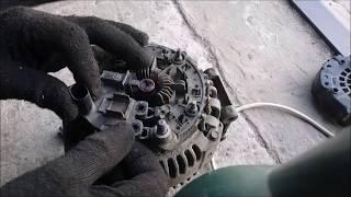 Горит значок аккумулятора Ауди а6 с6 .Диагностика и ремонт генератора Valeo 180 ампер