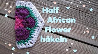 African Flower Granny Decke Häkeln Youtube