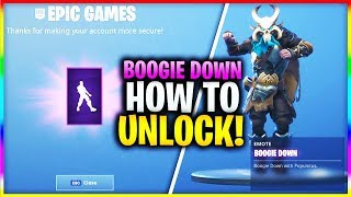 "How To Get The ""BOOGIE DOWN EMOTE"" FAST AND EASY in Fortnite! (Boogie Down SECRET *FREE* Emote)"