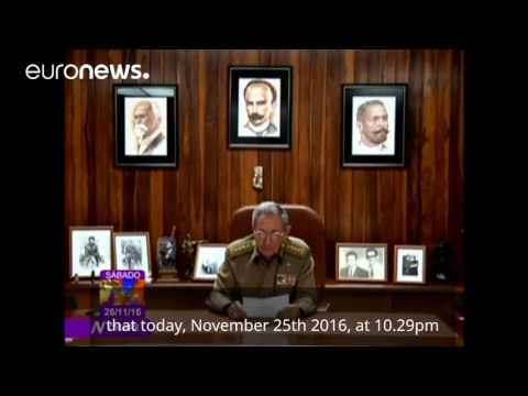 A moment in history: Raul Castro announces the death of his brother