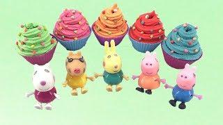 Peppa pig & Play Doh Rainbow Frosting Cupcake Super Easy ไอศครีมแป้งโดว์และตัวเลข |ของเล่นเด็ก