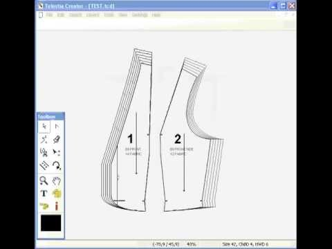 Pattern Grading Software And Fashion Drafting Marker Maker