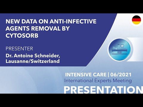 New data on anti-infective agents removal by CytoSorb | German voice over