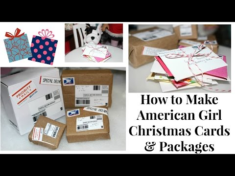 Christmas Doll Packages | DIY American Girl Doll Crafts