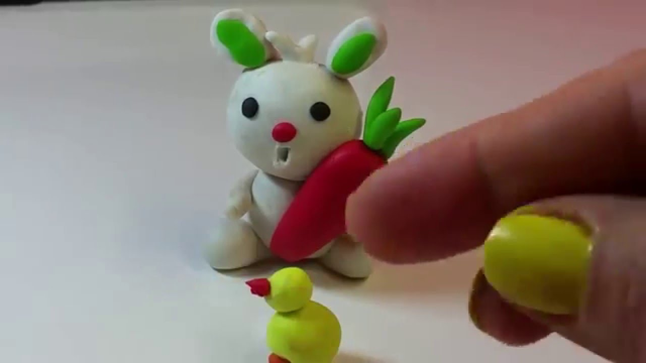 Easter Bunny : Make One At Home Using Clay