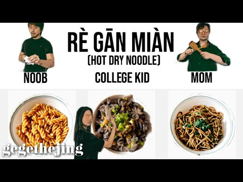 3 Levels of WUHAN Rè Gān Miàn 热干面 (Hot Dry Noodles) : Noob to Mom | INTERACTIVE