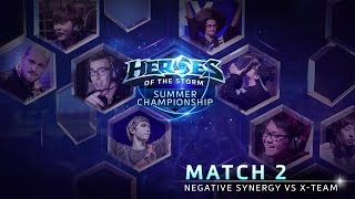 Negative Synergy vs X-Team - Game 2 - Group A - Global Summer Championship
