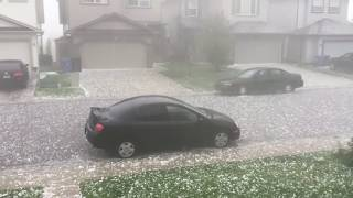 CRAZY GOLFBALL SIZED HAIL STORM