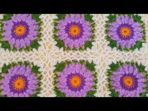 How To Crochet A Granny Square Baby Blanket Youtube