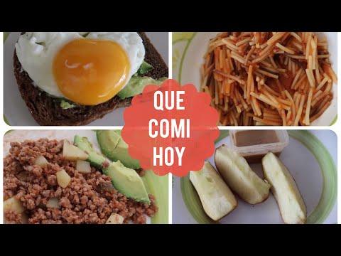 QUE COMI HOY / 5.10.17 (RECETA DE SOPA FIDEO Y PICADILLO)