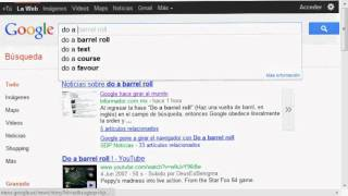 Google - Do a barrel roll