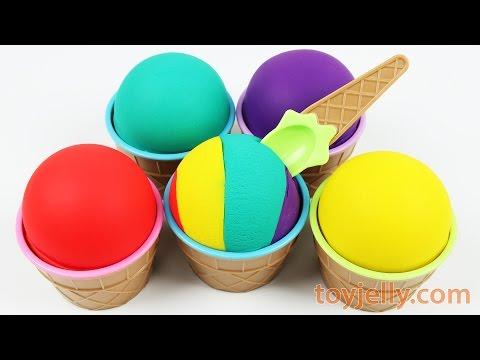 Learn Colors, Numbers Ice Cream Cup Surprise Eggs Peppa Pig Milk Carton Toys Play Doh Nursery Rhymes