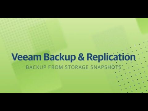Backup from Storage Snapshots