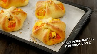 Veg Zingy Parcel - Dominos Style Paneer Parcel Recipe CookingShooking