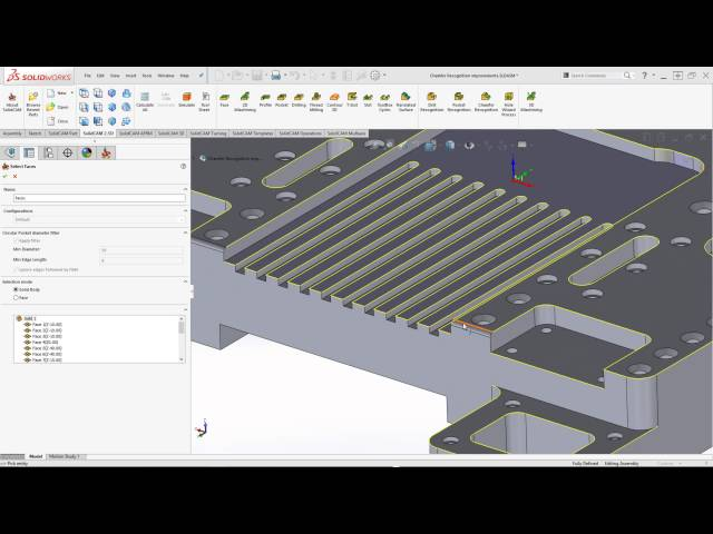 SolidCAM 2016 - Chamfer Recognition Improvements
