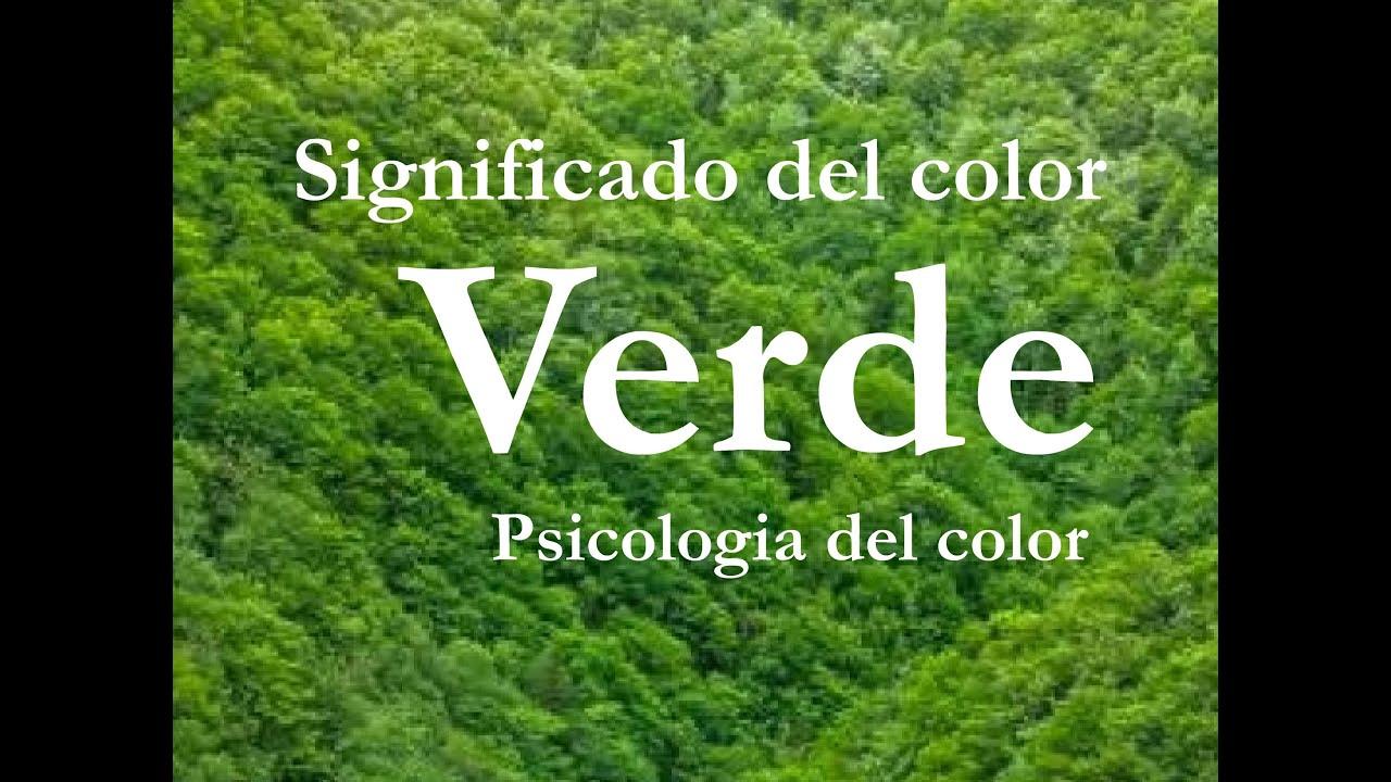 Que simboliza el color verde