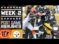 Bengals Vs. Steelers (week 2) | Post Game Highlights | Nfl video
