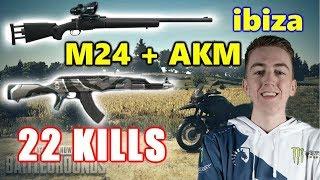 PUBG - ibiza - 22 KILLS - M24 + AKM #SOLO