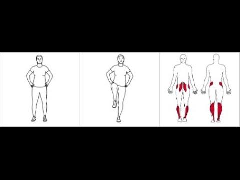 Ettbensbalanse med kneløft
