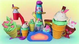 Play Doh  ★ Magic Swirl Ice Cream Shoppe - Hasbro Playset