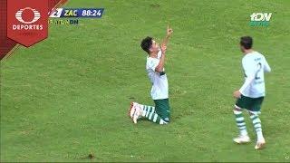 Gol de Oscar Uriel Macías   Atlas 1 - 2 Zacatepec   Copa MX - A18 - J1   Televisa Deportes