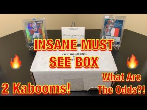 The Original Boombox April's High-End Football Box Break - 2 KABOOMS! INSANE MUST-SEE BOX!