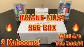 The Original Boombox April's High-End Football Box Break - 2 KABOOMS! INSANE MUST-SEE BOX!
