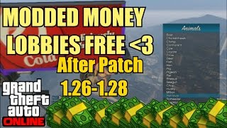 GTA 5 Online: '' FREE MODDED MONEY LOBBIES'' After Patch 1.26/1.28 (Xbox 360, PS3, Xbox One, PS4)