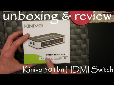 Unboxing Kinivo 501BN HDMI Switch - How To Connect It & Review