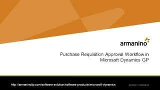 Purchase Requisition Approval in Dynamics GP