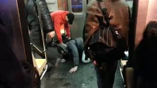 NYC Subway: Fight on a B train at Kings Highway