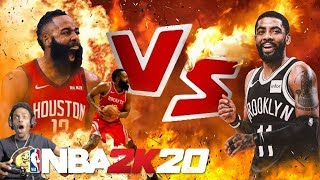 NBA 2K20 KYRIE IRVING VS JAMES HARDEN!! OVERTIME THRILLER!!