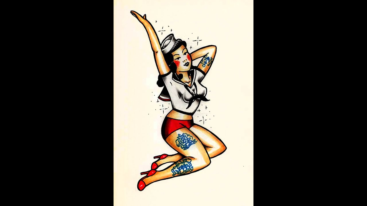 How To Draw An Old School Pin Up Tattoo Style By Thebrokenpuppet