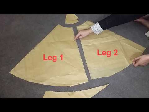 Sharara   Sharara Drafting,Measurements And Cutting Step by Step Tutorial   For Beginners  Pakistani
