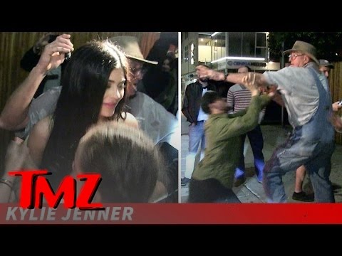 Kylie Jenner Stops for Young Fans This Time, But Grandpa Brawls with Photogs! | TMZ