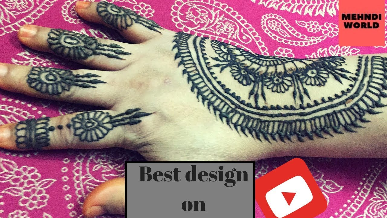 fb5ee90cf8c4e Mehndi designs|simple Mehndi tutorial for beginners|Simple Easy Henna Mehndi  Design || मेहँदी डिजाईन