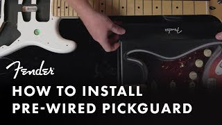 How To Install A Pre-Wired Pickguard | Fender