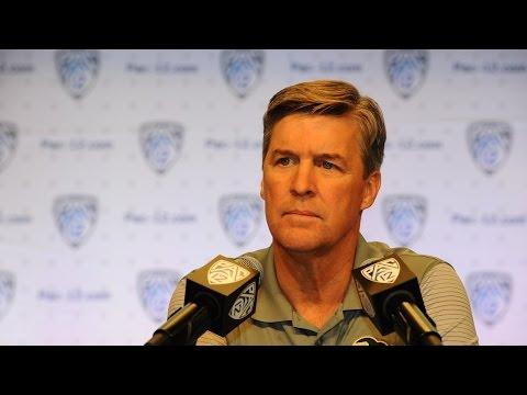 2016 Pac-12 Football Media Day: Colorado's Mike MacIntyre excited for Sefo Liufau's return