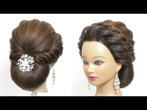 Low Bun Hairstyle For Party. Hair Tutorial. Easy Updos thumbnail