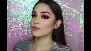 Maquillaje Rosa Neon (Fácil) /Tendencia Neon💖