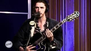 Hozier performing