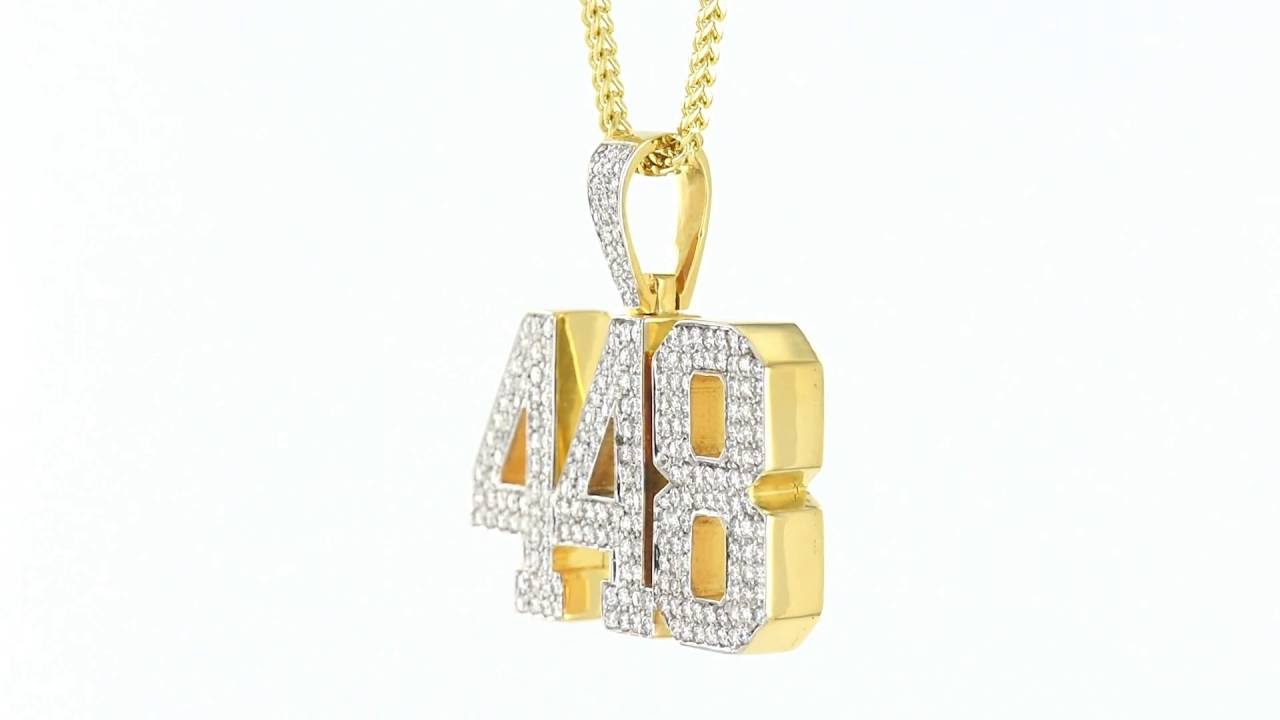Custom 448 Design Real Solid Gold Genuine Diamonds Pendant Hiphop