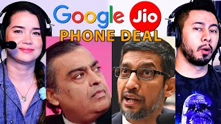 GOOGLE & JIO PHONE DEAL | Mukesh Ambani | Sundar Pichai | Reaction & Discussion | Jaby Koay